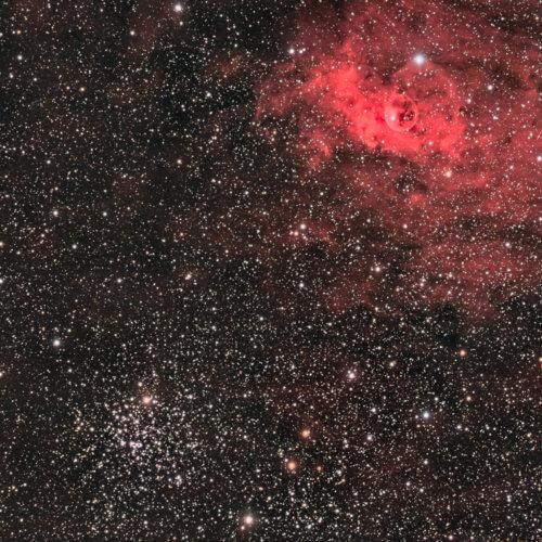 M52 et la Nébuleuse de la bulle